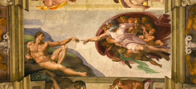 """""""The Creation of Adam"""" from the Sistine Chapel"""