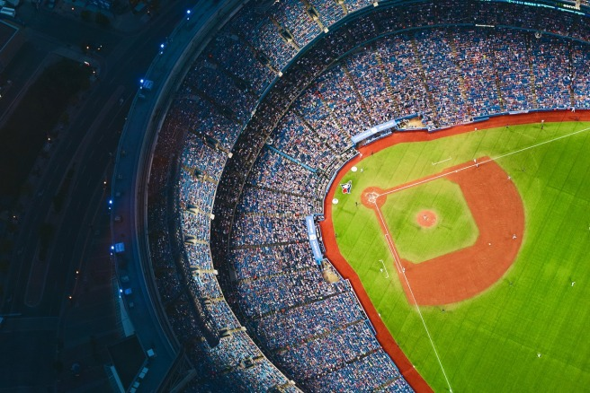 baseball field and fans