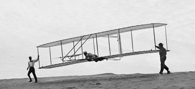 Wright Brothers first flight in Kitty Hawk, 1903