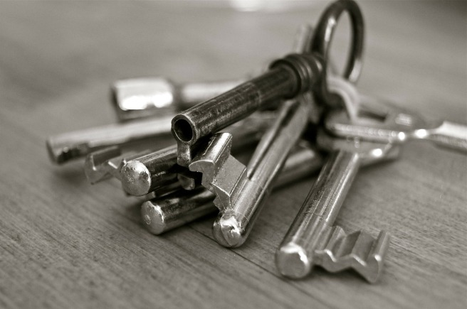 key ring with old fashioned keys