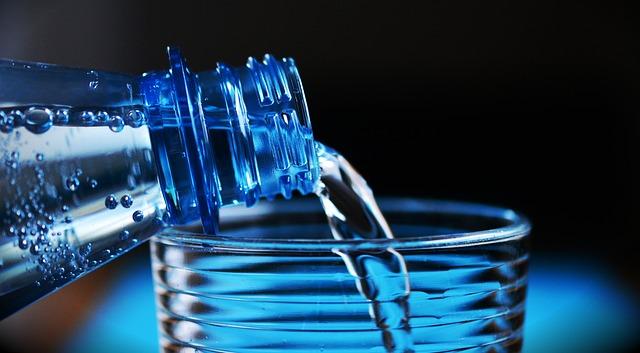 water bottle; water glass